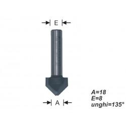 Freza tip burghiu pentru alucobond 135°