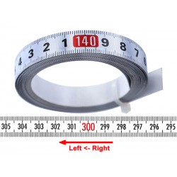 Banda milimetrica 13mm, alba, ST.