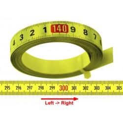 Banda milimetrica 13mm, galben, DR.