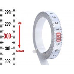 Banda gradata 13 mm, alb, SUS-JOS