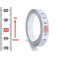 Banda gradata 13 mm, alb, JOS-SUS